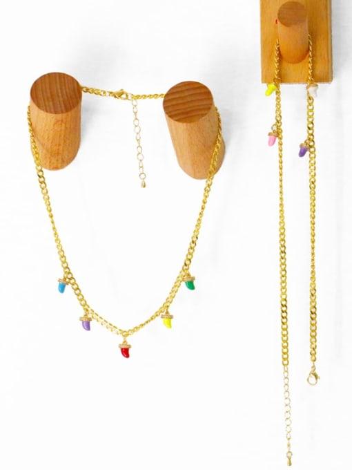 MMBEADS Brass Enamel Geometric Hip Hop Necklace 2