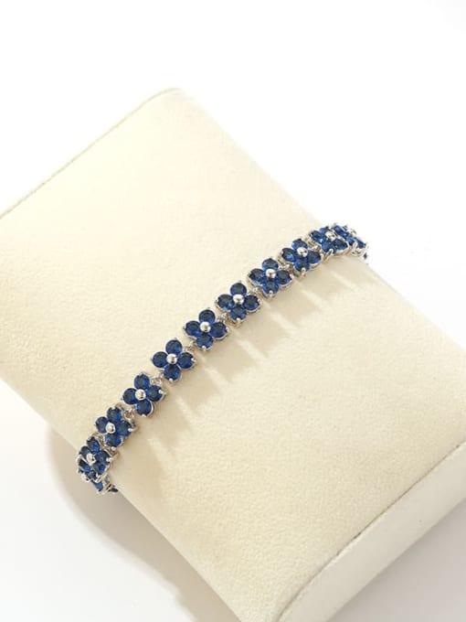 DUDU Brass Cubic Zirconia Clover Dainty Bracelet 2