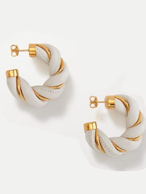 LI MUMU Brass Geometric Vintage Stud Earring
