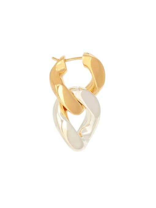 LI MUMU Brass Hollow Geometric Chain Vintage Drop Earring 1