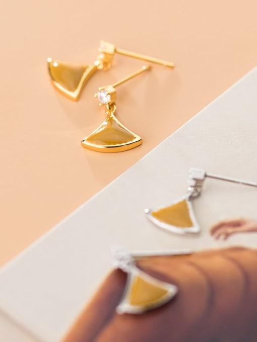 Rosh 925 Sterling Silver Enamel Triangle Minimalist Stud Earring 4
