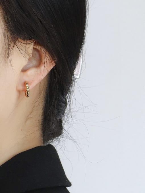 CHARME Brass Geometric Minimalist Stud Earring 2