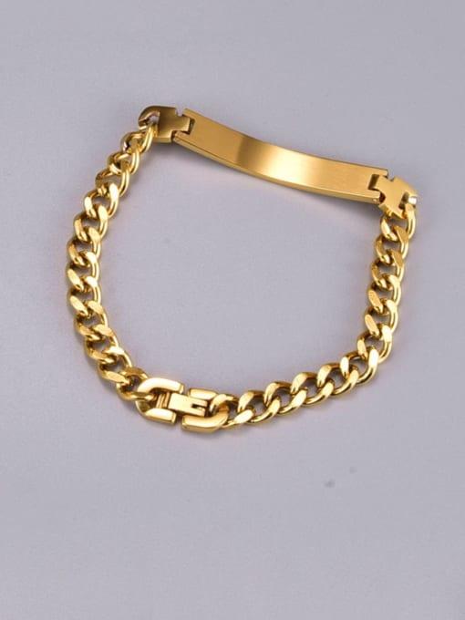 A TEEM Titanium Steel Geometric Vintage Hollow Chain Link Bracelet 0