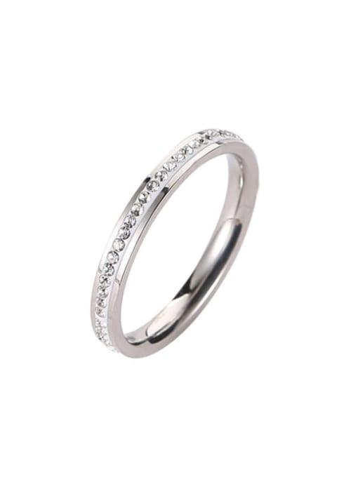 MIYA Titanium Steel Rhinestone Round Minimalist Band Ring 3