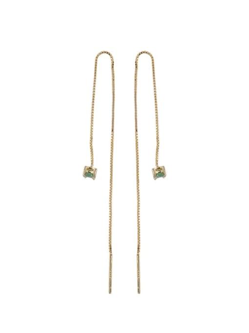 DEER 925 Sterling Silver Opal Geometric Minimalist Drop Earring 0