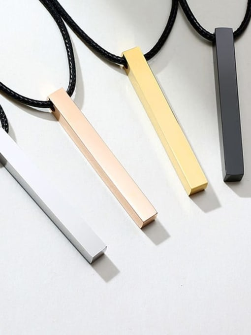 CONG Stainless steel Smooth Geometric Minimalist  pendant Necklace 3
