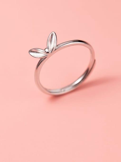 Rosh 925 Sterling Silver Leaf Cute Band Ring 0