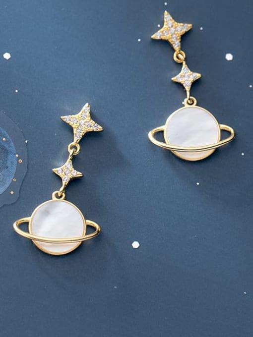 Rosh 925 Sterling Silver Shell Flower Minimalist Drop Earring 0