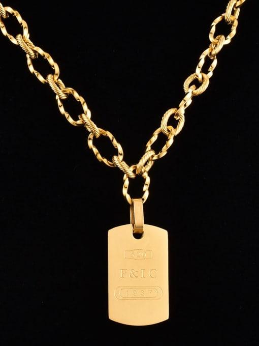 A TEEM Titanium Steel Geometric Vintage Necklace