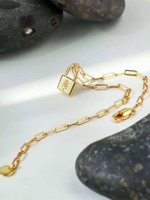 CHARME Brass Cubic Zirconia Locket Minimalist Bracelet 1