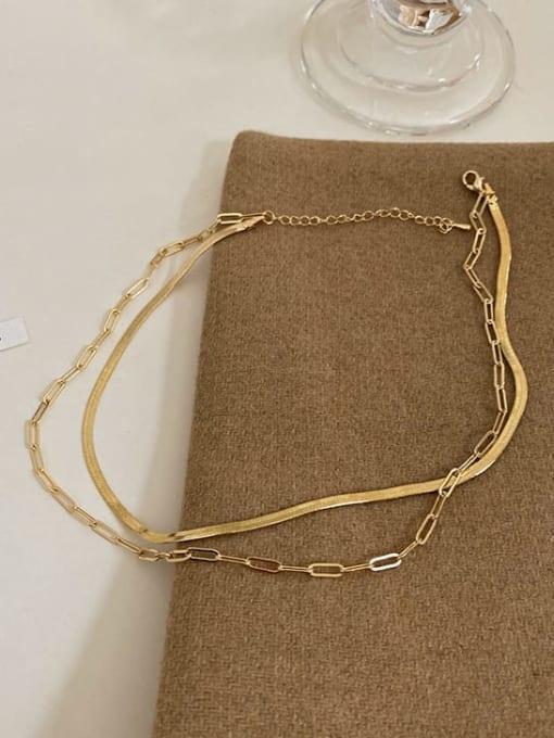 A TEEM Titanium Steel Irregular Minimalist Multi Strand Necklace 1