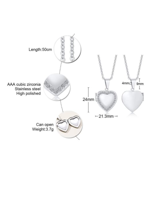 Style steel Stainless steel Heart Minimalist Necklace