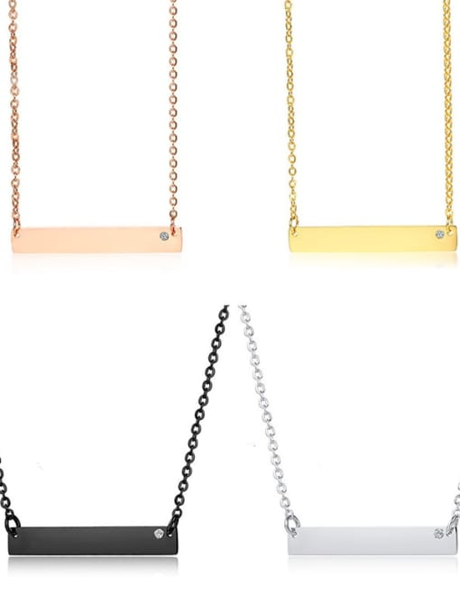 CONG Stainless steel Geometric Minimalist Necklace