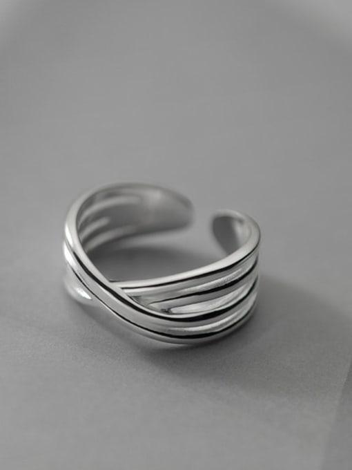 Rosh 925 Sterling Silver Cross Vintage Band Ring