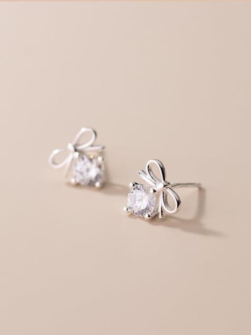 Rosh 925 Sterling Silver Cubic Zirconia Butterfly Cute Stud Earring 2