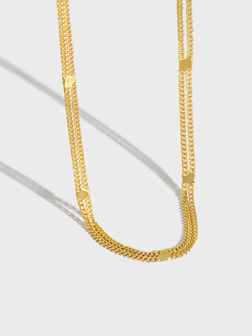 Dak Phoenix 925 Sterling Silver Irregular Minimalist Multi Strand Necklace 0