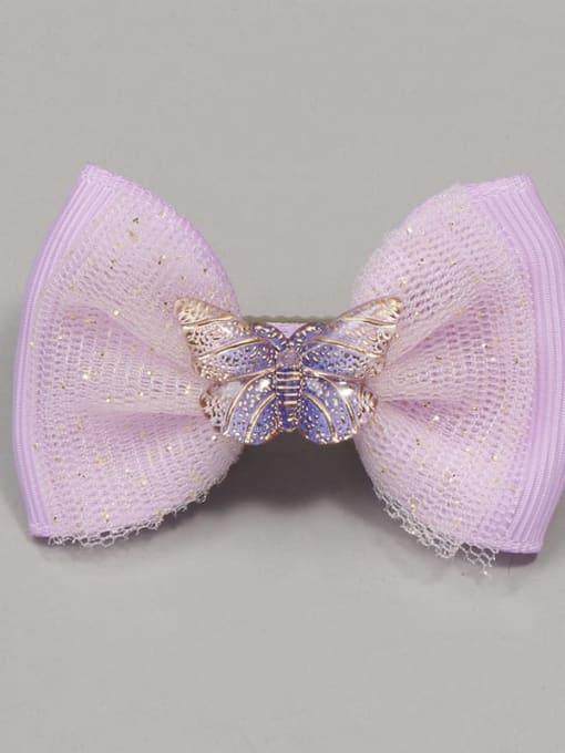 8 fairy Purple Butterfly Alloy Yarn Cute Bowknot  Multi Color Hair Barrette