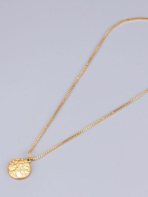 A TEEM Titanium Round tree Minimalist pendant Necklace 4