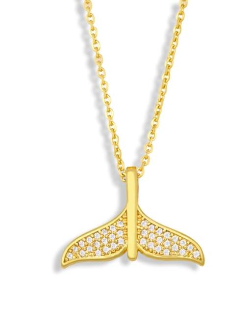 CC Brass Cubic Zirconia Fish Vintage Necklace 1