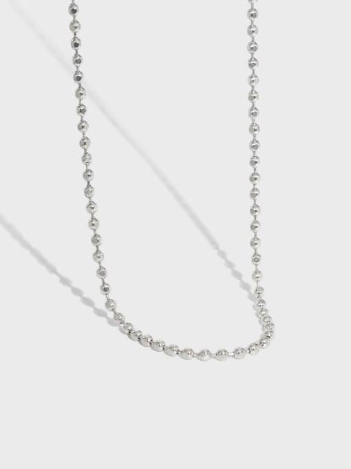 DAKA 925 Sterling Silver Geometric Vintage Beaded Necklace