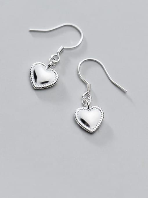 Rosh 925 Sterling Silver Heart Minimalist Hook Earring 3
