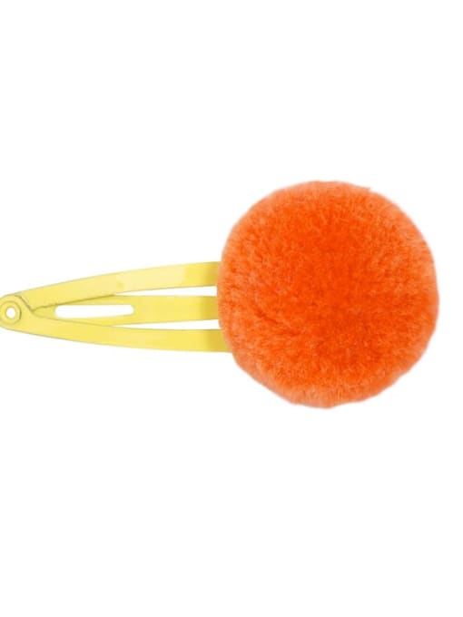 10 vitality orange Alloy Feather Cute Round ball  Multi Color Hair Barrette