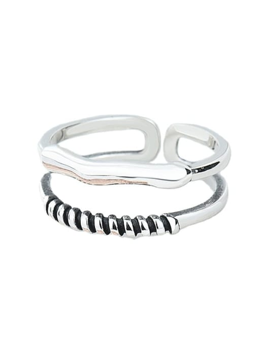 XBOX 925 Sterling Silver Irregular Vintage Stackable Ring
