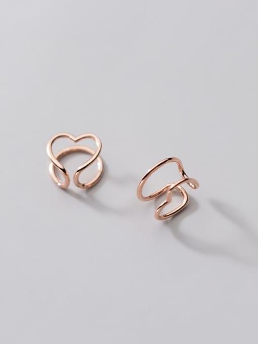 Rosh 925 Sterling Silver Heart Minimalist Clip Earring 4