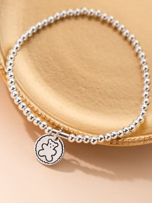 Rosh 925 Sterling Silver Bead Geometric Vintage Beaded Bracelet 4
