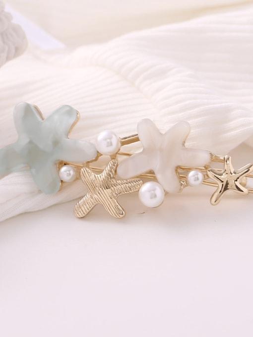 Light blue Alloy Cellulose Acetate Minimalist Star  Hair Pin