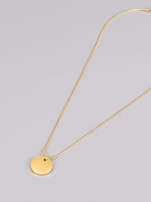 A TEEM Titanium Steel  Minimalist  Letter Pendant Necklace 3