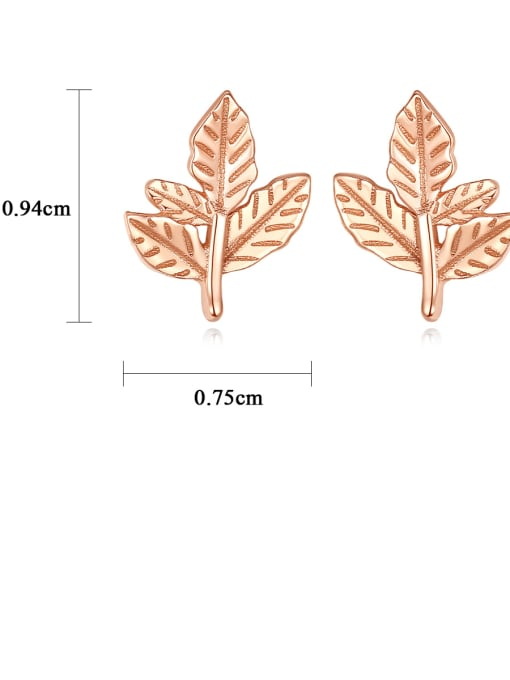 CCUI 925 Sterling Silver Leaf Minimalist Stud Earring 4