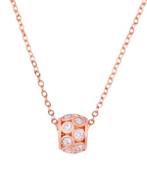 CC Brass Cubic Zirconia Locket Dainty Necklace 0