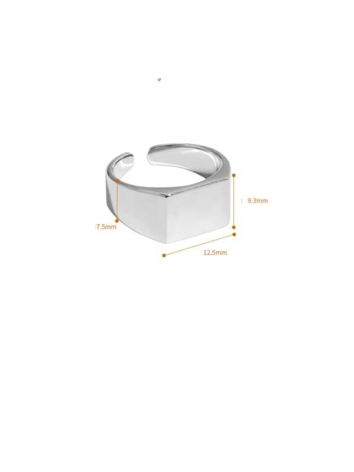 DAKA 925 Sterling Silver Geometric Minimalist Band Ring 4