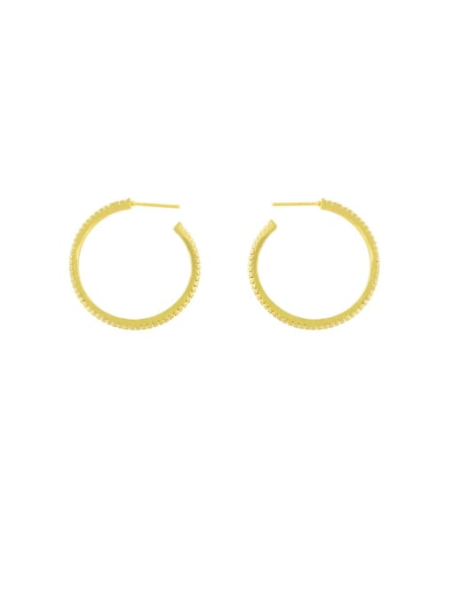 CC Brass Hollow Star Heart Minimalist Huggie Earring 3