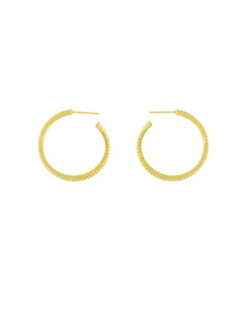 Round Brass Hollow Star Heart Minimalist Huggie Earring
