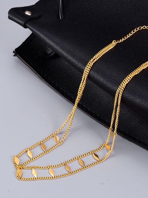A TEEM Titanium Steel Irregular Vintage Multi Strand Necklace 2