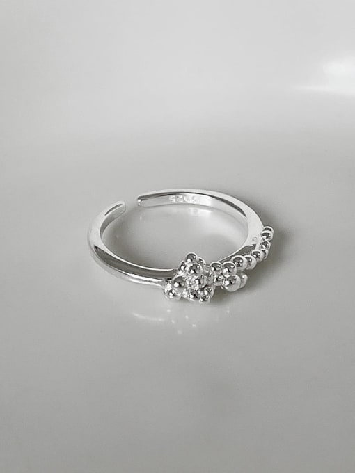 a bubble j1544 925 Sterling Silver Bead Round Minimalist Band Ring