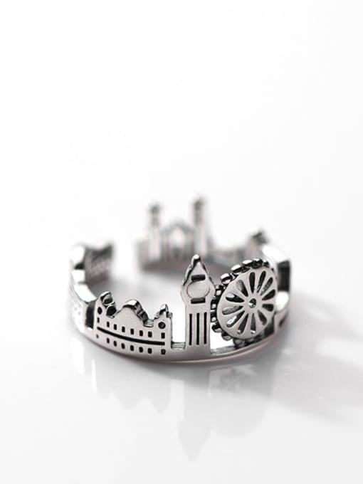 Rosh 925 Sterling Silver Irregular Vintage Band Ring 2