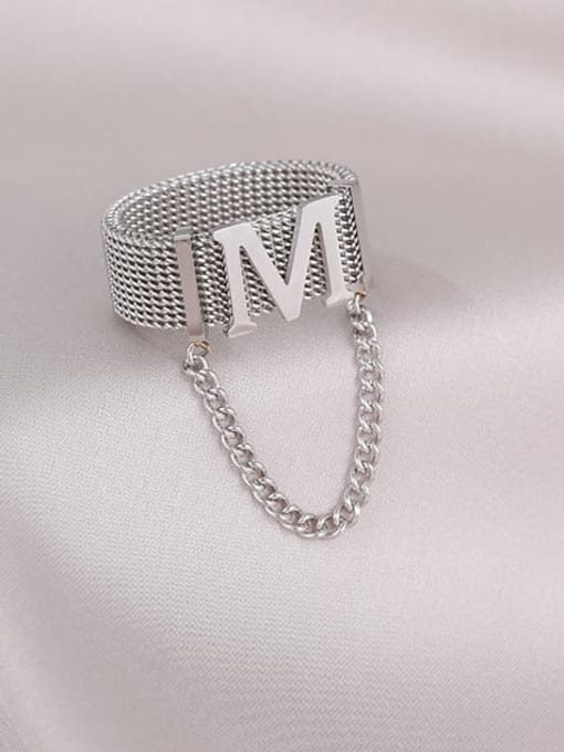 MIYA Titanium Steel Tassel Hip Hop Band Ring 0
