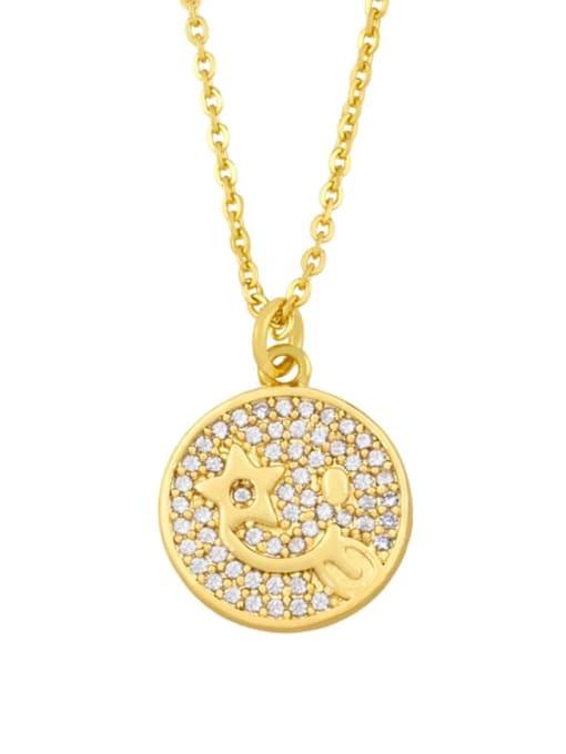 CC Brass Cubic Zirconia Star Vintage Necklace
