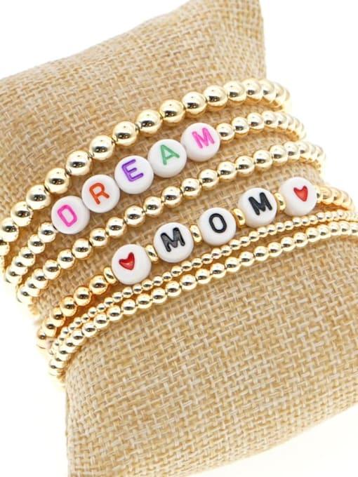 Roxi Stainless steel MGB Bead Letter Bohemia Beaded Bracelet 3