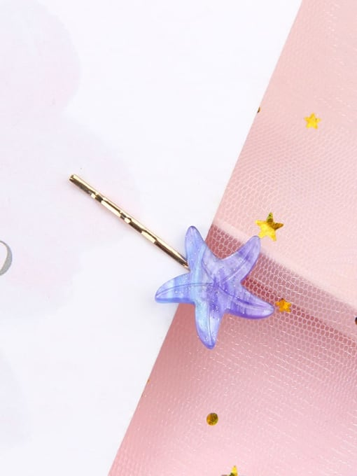 Starfish Alloy Cellulose Acetate Minimalist Heart Hair Pin