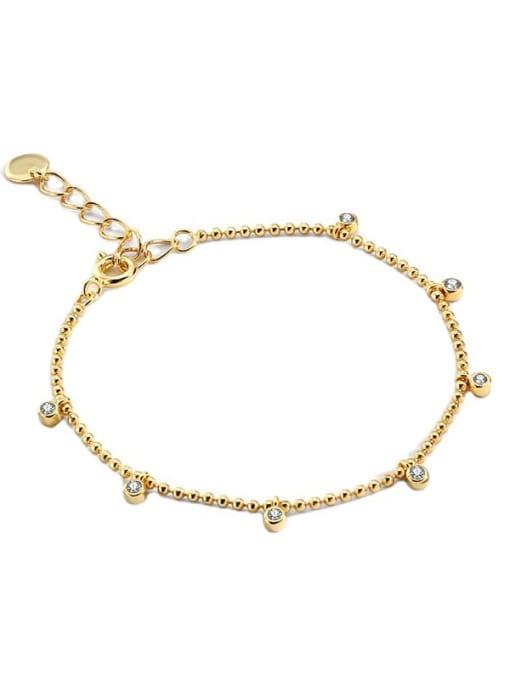 CHARME Brass Bead Geometric Minimalist Beaded Bracelet 4