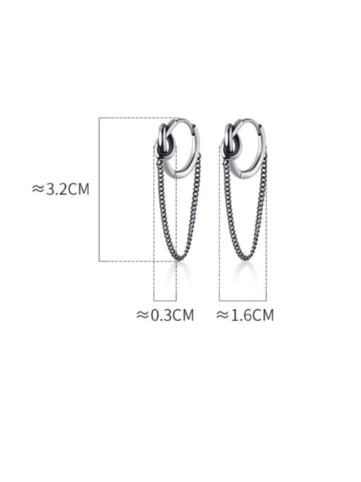 Rosh 925 Sterling Silver Tassel Vintage Huggie Earring 4