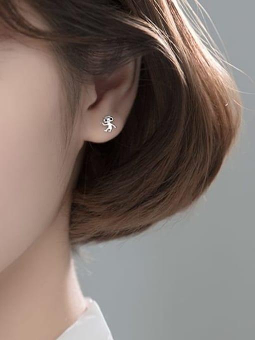 Rosh 925 Sterling Silver Irregular Cute Stud Earring 2