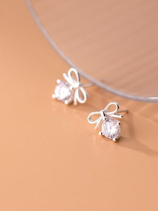 Rosh 925 Sterling Silver Cubic Zirconia Butterfly Cute Stud Earring 3