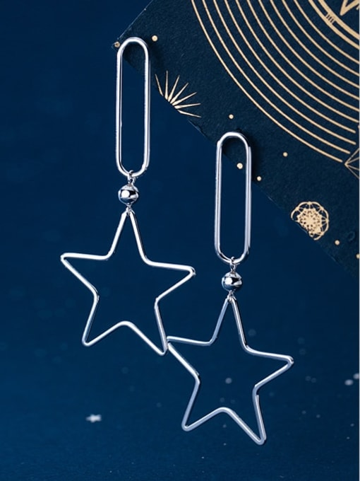 Rosh 925 Sterling Silver Star Minimalist Drop Earring 4