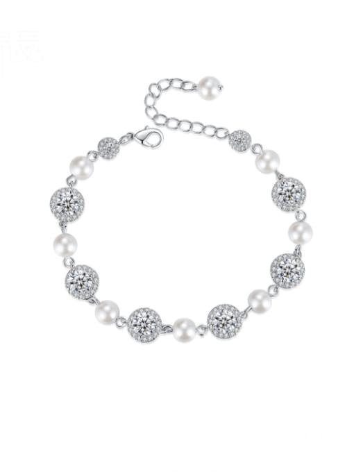 BLING SU Brass Cubic Zirconia Geometric Luxury Bracelet
