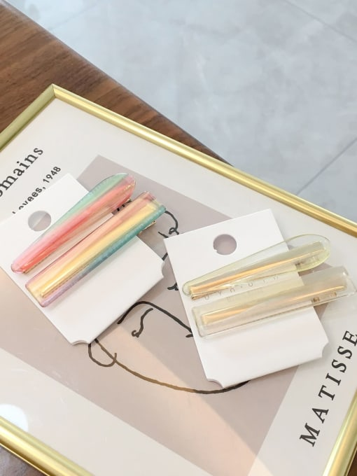 Chimera Alloy Cellulose Acetate Minimalist Candy Color 2 Pack Hairpin  Bangs clip side clip 1
